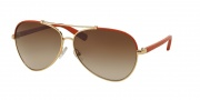 Tory Burch TY6021Q Sunglasses Sunglasses - 396/13 Orange Gold / Brown Gradient
