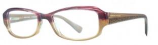 Adrienne Vittadini AV1090 Eyeglasses Eyeglasses - Burgundy / Brown