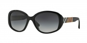 Burberry BE4159 Sunglasses Sunglasses - 34338G Black / Gray Gradient