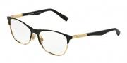 Dolce & Gabbana DG1246 Eyeglasses Eyeglasses - 1220 Matte Black / Gold