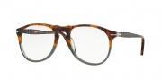 Persol PO9649V Eyeglasses Eyeglasses - 1023 Fuoco e Ardesia Havana