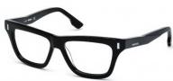 Diesel DL5044 Eyeglasses Eyeglasses - 003 Black / Crystal