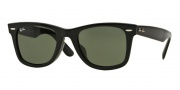 Ray Ban RB2140F Sunglasses Sunglasses - 901 Black / Crystal Green