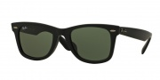 Ray Ban RB2140F Sunglasses Sunglasses - 901S Matte Black / Crystal Green