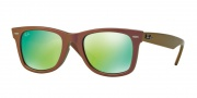 Ray Ban RB2140F Sunglasses Sunglasses - 611019 Metallic Pink / Grey Mirror Green
