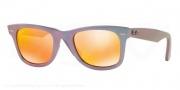 Ray Ban RB2140F Sunglasses Sunglasses - 611169 Metallic Oil / Brown Mirror Pink