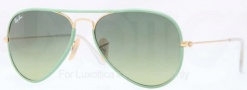 Ray Ban RB3025JM Sunglasses Sunglasses - 001/3M Arista / Green Gradient Green