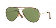Ray Ban RB3025JM Sunglasses Sunglasses - 168/4E Gold / Green