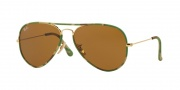Ray Ban RB3025JM Sunglasses Sunglasses - 169 Gold / Brown