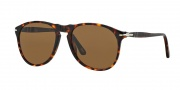 Persol PO9649S Sunglasses Sunglasses - 24/57 Havana / Crystal Brown Polarized