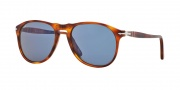 Persol PO9649S Sunglasses Sunglasses - 96/56 Light Havana / Blue
