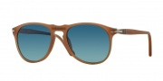 Persol PO9649S Sunglasses Sunglasses - 9018S3 Brown / Gradient Polarized Blue