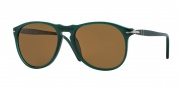 Persol PO9649S Sunglasses Sunglasses - 101357 Green / Polarized Brown