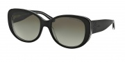 Ralph Lauren RL8114 Sunglasses Sunglasses - 54488E Black / White / Transparent / Gradient Green