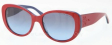 Ralph Lauren RL8114 Sunglasses Sunglasses - 54508F Top Red / Blue / Blue Gradient Grey