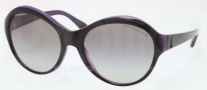 Ralph Lauren RL8111 Sunglasses Sunglasses - 537111 Top Black on Violet / Gradient Gray