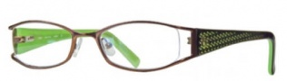 Float FLT 2949AT Eyeglasses Eyeglasses - Matte Brown / Green