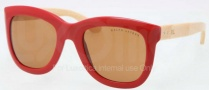 Ralph Lauren RL8099 Sunglasses Sunglasses - 531073 Red / Brown