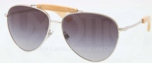 Ralph Lauren RL7044 Sunglasses Sunglasses - 900171 Shiny Silver / Grey Green