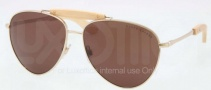 Ralph Lauren RL7044 Sunglasses Sunglasses - 911673 Shiny Pale Gold / Brown