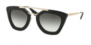 Prada PR 09QS Sunglasses Sunglasses - 1AB0A7 Black / Grey Gradient Lens