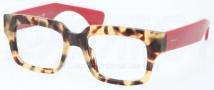 Prada PR 12QV Eyeglasses Eyeglasses - 7S0101 Medium Havana
