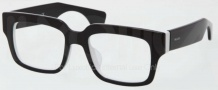 Prada PR 12QV Eyeglasses Eyeglasses - AAD101 Top Black White