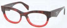 Prada PR 13QV Eyeglasses Eyeglasses - RO0101 Red Havana Gradient Red