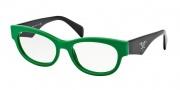 Prada PR 13QV Eyeglasses Eyeglasses - 5MP1O1 Green