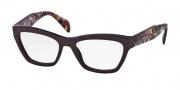 Prada PR 14QV Eyeglasses Eyeglasses - ROM101 Violet