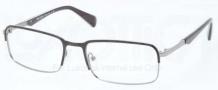 Prada PR 61QV Eyeglasses Eyeglasses - 7AX101 Top Black / Gunmetal
