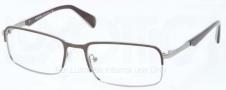 Prada PR 61QV Eyeglasses Eyeglasses - LAH101 Top Matte Brown / Gunmetal