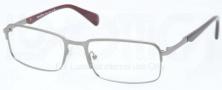 Prada PR 61QV Eyeglasses Eyeglasses - LAl101 Brushed Gunmetal Demi Shiny