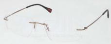 Prada Sport PS 54EV Eyeglasses Eyeglasses - ROU101 Cocoa Demi Shiny
