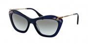 Miu Miu 03PS Sunglasses Sunglasses - 0AX0A7 Blue / Gray Gradient