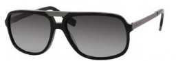 Hugo Boss 0453/P/S Sunglasses Sunglasses - 0ANS Black (WJ Gradient Shaded Polarized Lens)