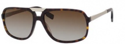 Hugo Boss 0453/P/S Sunglasses Sunglasses - 0AQT Dark Havana (LA Brown Polarized Lens)