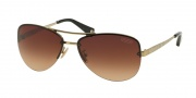 Coach HC7026 Sunglasses Jasmine Sunglasses - 909913 Gold Dark Tortoise / Brown Gradient