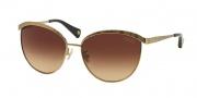 Coach HC7027 Sunglasses Catrice Sunglasses - 907213 Gold / Dark Brown Gradient