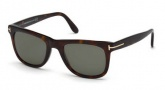 Tom Ford FT0336 Leo Sunglasses Sunglasses - 56R Havana / Green Polarized