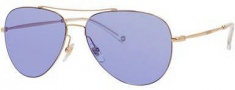 Gucci 2245/S Sunglasses Sunglasses - 0DDB Gold Copper / 35 Lilac Mirror Blue Lens