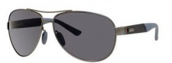 Gucci 2246/S Sunglasses Sunglasses - 04VQ Semi Matte Dark Ruthenium / Gray Polarized Lenses