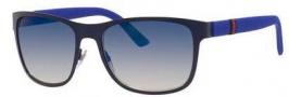 Gucci 2247/S Sunglasses Sunglasses - 04VD Matte Blue / Gray Multi Lens