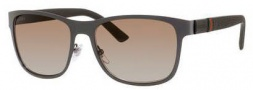 Gucci 2247/S Sunglasses Sunglasses - 04VF Matte Gray / Brown Polarized Lens