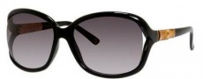 Gucci 3671/S Sunglasses Sunglasses - 06UB Shiny Black / Gray Gradient Lens