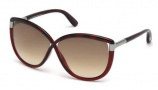 Tom Ford FT0327 Abbey Sunglasses Sunglasses - 52F Dark Havana / Gradient Brown