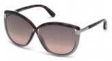 Tom Ford FT0327 Abbey Sunglasses Sunglasses - 56B Havana / Gradient Smoke