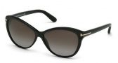 Tom Ford FT0325 Telma Sunglasses Sunglasses - 01P Shiny Black / Gradient Green