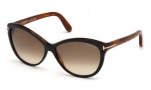 Tom Ford FT0325 Telma Sunglasses Sunglasses - 03F Black Crystal / Gradient Brown