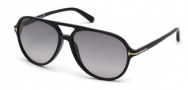 Tom Ford FT0331 Jared Sunglasses Sunglasses - 01B Shiny Black / Gradient Smoke